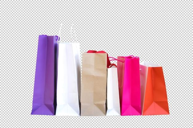 Veelkleurige papieren boodschappentassen psd