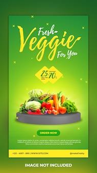 Vegetarisch verhaalsjabloon voor sociale media