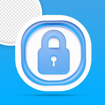 Veiligheid veiligheidsslot pictogram weergave geïsoleerd