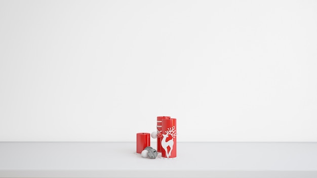Velas con diseño navideño