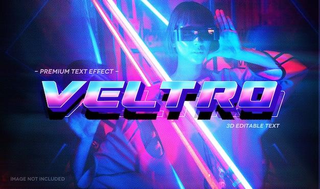 Veltro 3d-teksteffect mockup-sjabloon Premium Psd