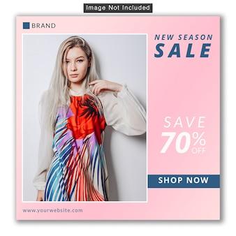 Vendita di moda social media instagram banner premium psd
