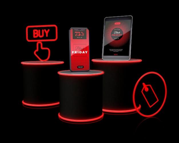 Venerdì nero design della campagna di marketing