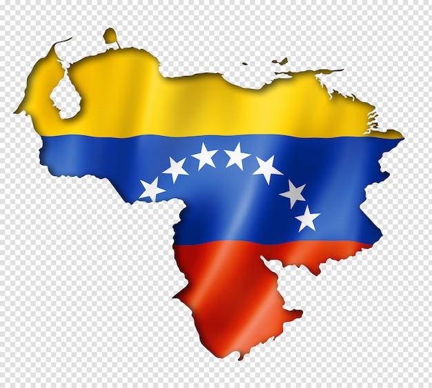 Venezolaanse vlagkaart
