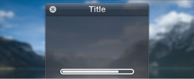 Venster interface met loading progress bar