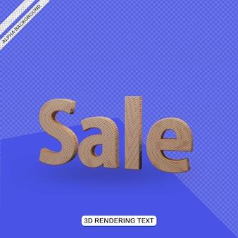 Venta de efecto de texto 3d render