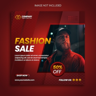 Venta de moda elegante con diseño de banner de oferta especial