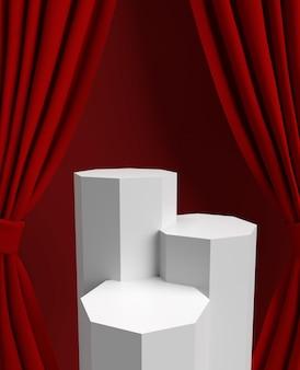 Ver tres podios para el producto en la ubicación superior
