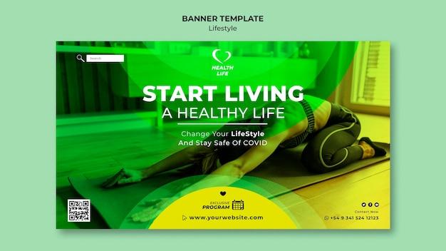 Verander de sjabloon van uw levensstijl voor spandoek