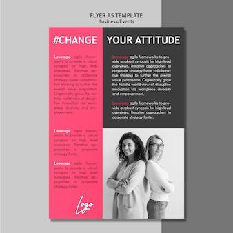 Verander je houding flyer evenement
