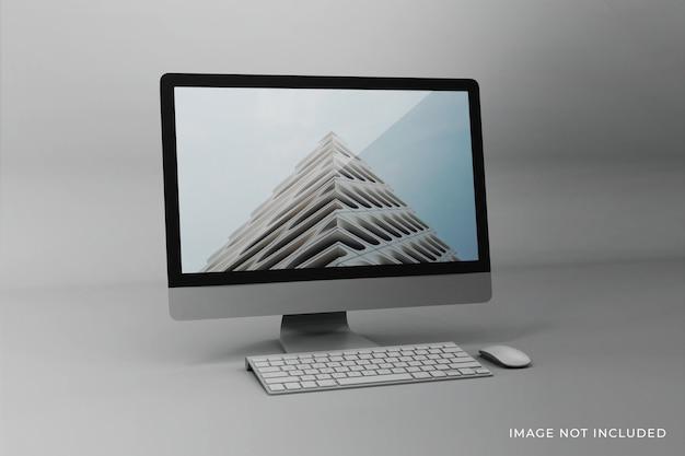 Veranderlijk mockup-ontwerp voor desktopschermen