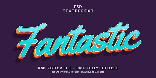 Verbazingwekkende tekst en lettertype-effect bewerkbare sjabloon
