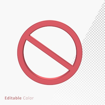 Verboden verboden 3d mark symbool premium psd