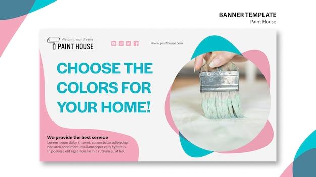 Verf huis concept sjabloon voor spandoek