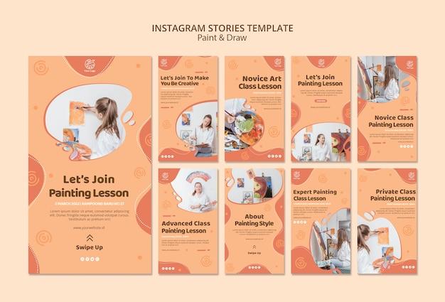 Verf & teken instagram verhalen sjabloon