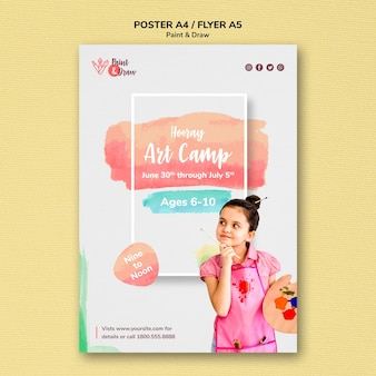 Verf & teken poster