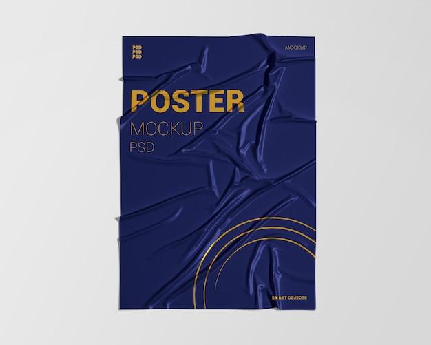 Verfrommeld poster mockup