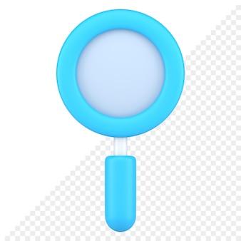Vergrootglas 3d-pictogram