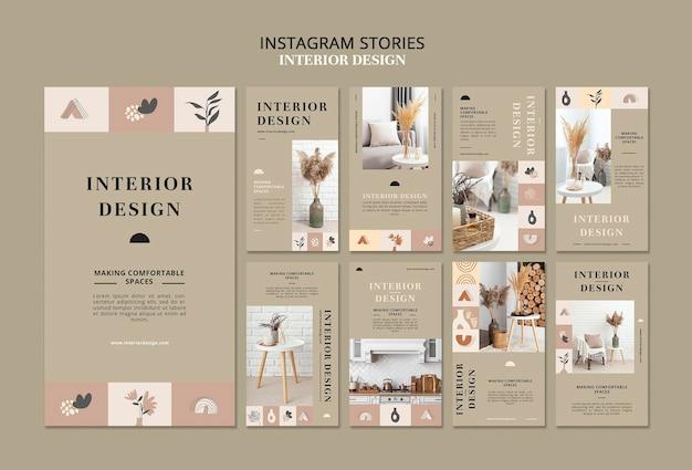 Verhalen over sociale media voor interieurontwerp
