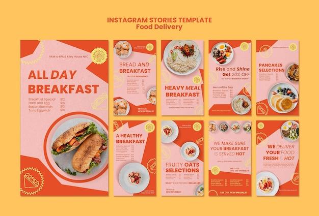 Verhalen over sociale media voor ontbijtbezorging