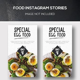 Verhalen over voedsel instagram