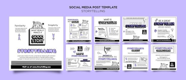 Verhalen vertellen voor marketing instagram-berichten