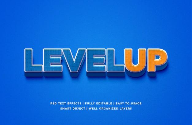 Verhoog het 3d-stijl teksteffect