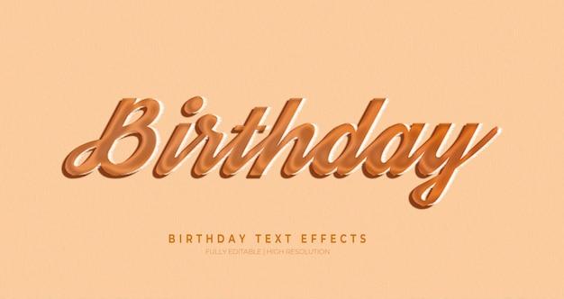 Verjaardag 3d tekststijl effect