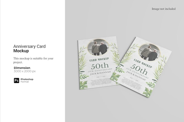 Verjaardag card mockup design