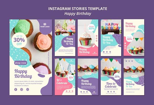 Verjaardag instagram verhalen sjabloon