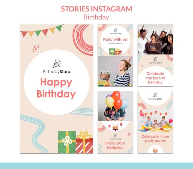 Verjaardag instagram-verhalen