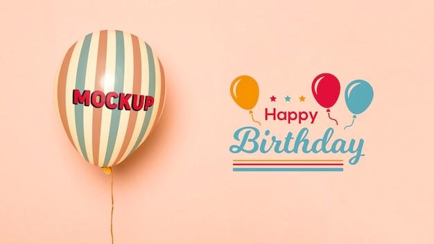 Verjaardag mock-up ballonnen