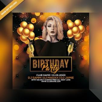 Verjaardag partij flyer