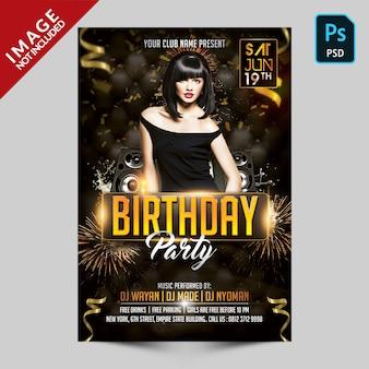 Verjaardag partij sjabloon folder
