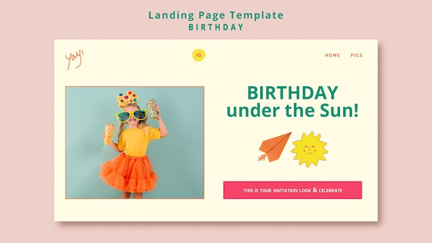 Verjaardag partij websjabloon