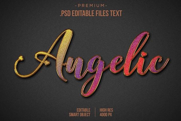 Verjaardag teksteffect psd, set elegant roze paars rood abstract mooi teksteffect, bewerkbaar lettertypeeffect met mooie tekststijl