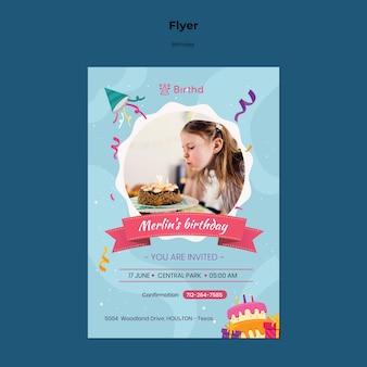 Verjaardag uitnodiging sjabloon folder