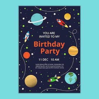 Verjaardag uitnodigingssjabloon