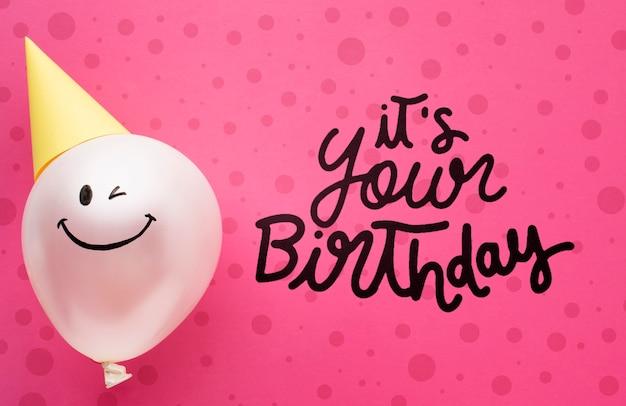 Verjaardagsballons met witte letters