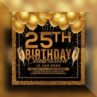 Verjaardagsfeest partij flyer