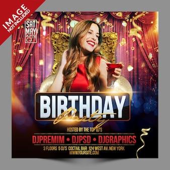 Verjaardagsfeestje evenement social media promotie