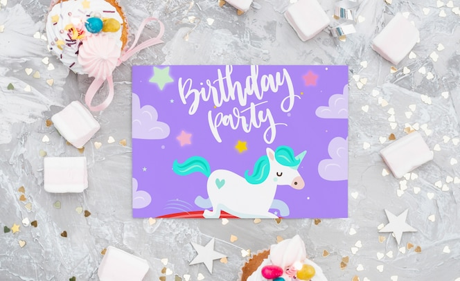 Verjaardagskaart mockup
