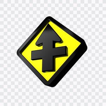 Verkeersbord ter herdenking van het kruispunt met vier prioriteiten geplaatst op de arm van de majoor