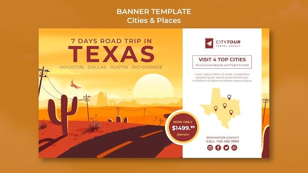 Verken de sjabloon voor spandoek van texas