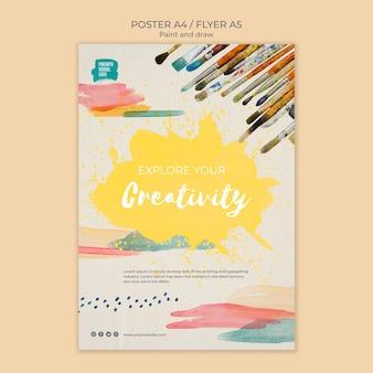 Verken je creativiteit poster sjabloon