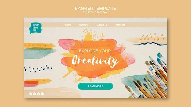 Verken uw creativiteitsjabloon voor spandoek