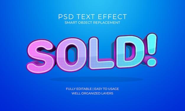 Verkocht teksteffect