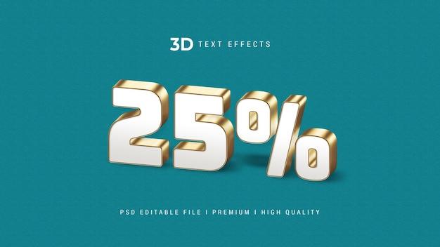 Verkoop 25% 3d-teksteffectsjabloon