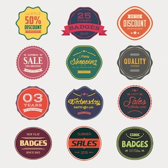 Verkoop badges collectie