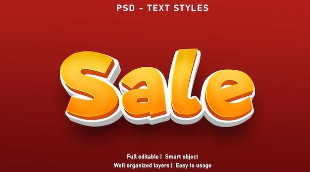Verkoop teksteffecten stijl